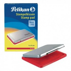Cuscinetto per TIMBRI 7x11 cm Pelikan N. 2 ROSSO in scatola di metallo