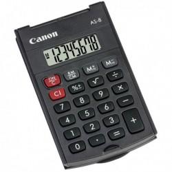 Calcolatrice Tascabile CANON AS-8 HB 4598B001. Tascabile ed Ecologica realizzata