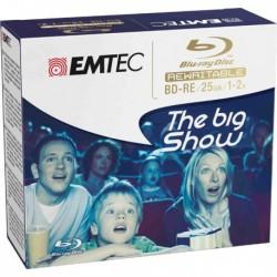 Blu-Ray Disc BD-RE 25 GB 1-2X Jewel Case Gifbox (5 Pz) EMTEC ECOBDRE2552JC.