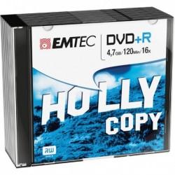 DVD+R 4.7 GB 16X Slim Case (10 Pz) EMTEC ECOVPR471016SL.