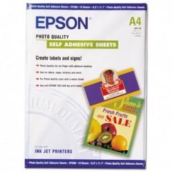 Carta Fotografica Inkjet Adesiva 10 Fg. 167 gr. A4 EPSON C13S041106.