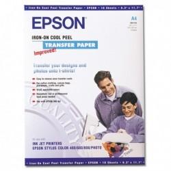 Carta Speciale per Stampa Inkjet su Tessuto 10 Fg. 124 gr. A4 EPSON C13S041154.