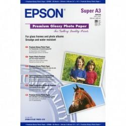 Risma 20 Fg Carta A3+ Fotografica Premium Lucida 255 gr. C13S041316 EPSON