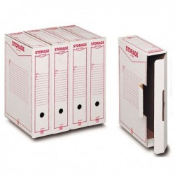 Scatole archivio Storage KING MEC 9x37x26 cm Legale 00160200 (32 Pz)
