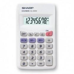 Calcolatrice SHARP EL233SB 8 cifre Tascabile. Design sottile, facile da imp
