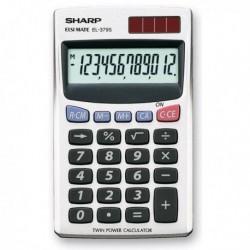 Calcolatrice EL-379SB 12 cifre Tascabile SHARP. Ampio display a 12 cifre.
