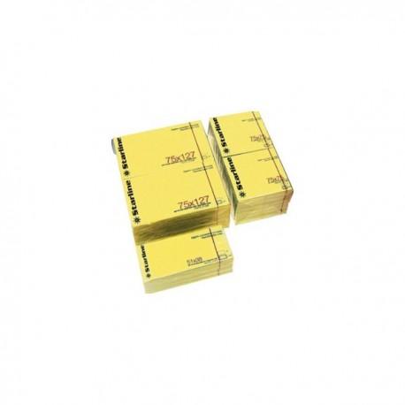 Blocchetto Biglietti Adesivi GIALLO 50x40 mm. 100 Fg. 70 gr. STARLINE (12 Pz)