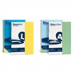 Carta Colorata RismaLuce FAVINI A65X214 - A4 - 140 gr. 200 Fg. - in 5 colori