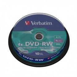 DVD VERBATIM 43552 - DVD-RW - 4.7 GB - 4x - Spindle 10 DVD-RW.