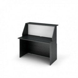 Modulo Reception Sopralzo+Desktop 120x76x117 cm NERO Ven. /BIANCO - Prestige