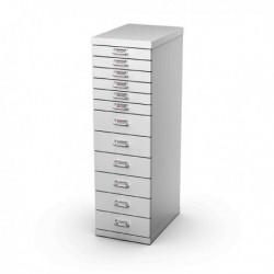 Cassettiera in Metallo a 12 Cassetti 29x43 - H 97 cm GRIGIO