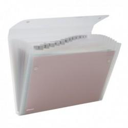 Cartella a 13 Tasche 22x30 cm Trasparente Ice REXEL