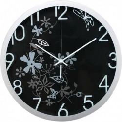 Orologio da Parete D 30.5 cm Flowers NERO - METHODO