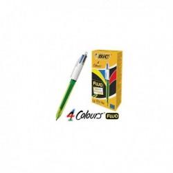 Scatola 12 Penna Sfera Scatto 4 Colori Fluo BIC