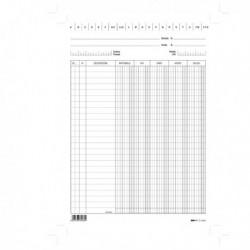 100 Schede Verticali 24x17 cm Dare/Avere/Saldo/Iva E3426Bl EDIPRO