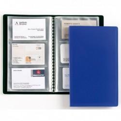 Portabiglietti Visita 20 Buste a 3 Tasche 12.5x20.5 cm BLU FAVORIT