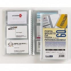 Portabiglietti Visita Personalizzabile 20 Buste a 3 Tasche 12.5x20.5 cm FAVORIT