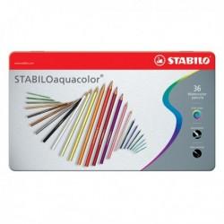 Matite colorate Aquacolor STABILO - Scatola in metallo - 2.8 mm 1636-5 (36 Pz)