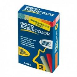 Gessetti Robercolor GIOTTO - 80 mm - Colorati - 538900 (10 Pz) per lavagne