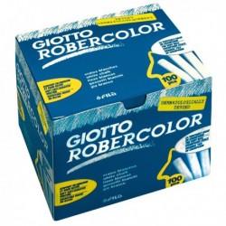 Gessetti Robercolor GIOTTO - 80 mm - BIANCO - 538800 (100 Pz) per lavagne
