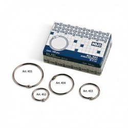 Scatola 100 Anelli in Metallo 28 mm per Rilegatura - NIJI ITALIANA