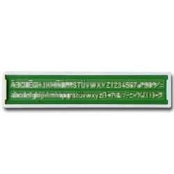 Normografo UNI ARDA mm. 2.5 in k-resin colore VERDE