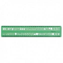 Normografo UNI ARDA - 28.6x4.3 cm - 10 mm - 30010 (conf. 10 Pz)