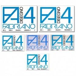 Album Disegno FABRIANO 4 - Ruvido - 24x33 cm - 200 gr. - 20 Fg. - 05000597