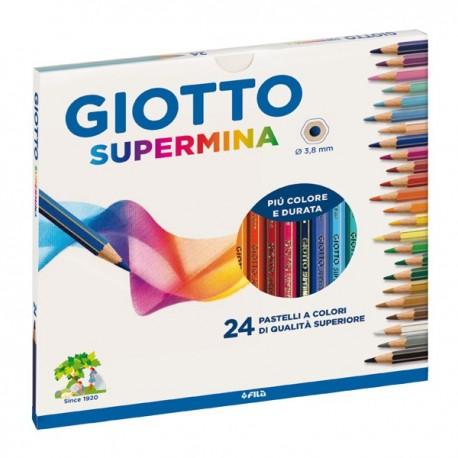 Pastelli Supermina GIOTTO - 3.8 mm - da 3 anni in poi - 235900 (24 Pz)