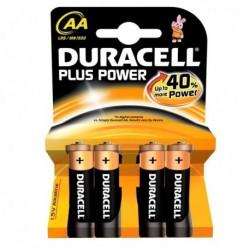Confezione 4 Pile DURACELL Plus (MN1500) AA Stilo