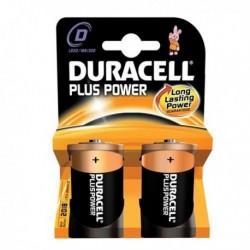 Confezione 2 Pile DURACELL Plus (MN1300) D Torcia