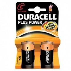 Confezione 2 Pile DURACELL Plus (MN1400) C Mezza Torcia