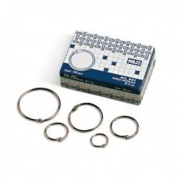 Anelli Metallici per rilegatura - diametro 20 mm. - NIJI 451 (100 Pz)