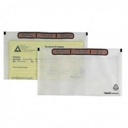 100 Buste adesive SPEEDY DOC LD 230x110 mm. FAVORIT in politene semitrasparente