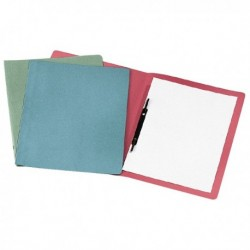 50 Cartelline cartelle semplici AZZURRO con pressino 25x34 - 200 gr. in MANILLA
