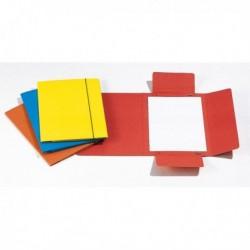 Cartellina portadocumenti con elastico (10 Pz) 40L 17x25 cm - ROSSO