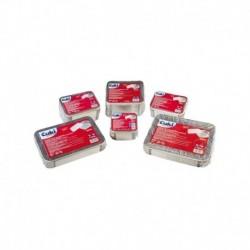 Pack 25 Contenitore alluminio - 31.9x25.9x5 - 8 porzioni - con coperchio - Cuki