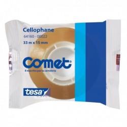 Nastro adesivo in cellophane 33 Mt. X 15 mm. Cello 64-160 COMET (30 Pz)