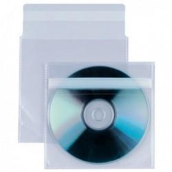Buste trasparenti porta CD/DVD - con patella e retro adesivo - SEI ROTA (25 Pz)