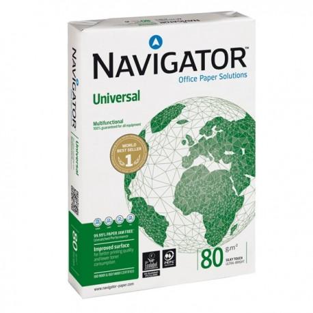 Carta NAVIGATOR universal - A4 - 80 gr. 500 Fg. (5 Pz)
