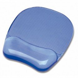 Tappetino Mouse Pad con poggiapolsi in gel TRASPARENTE BLU - FELLOWES 91141
