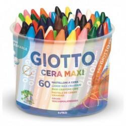 Barattolo 60 pastelli CERA MAXI 100 mm diam. 11.5 mm GIOTTO