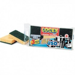 Confezione 3 Spugne pulizia Biuso LOGEX