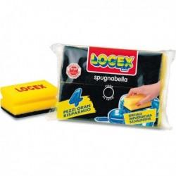 Confezione 4 Spugne pulizia SPUGNABELLA LOGEX con impugnatura