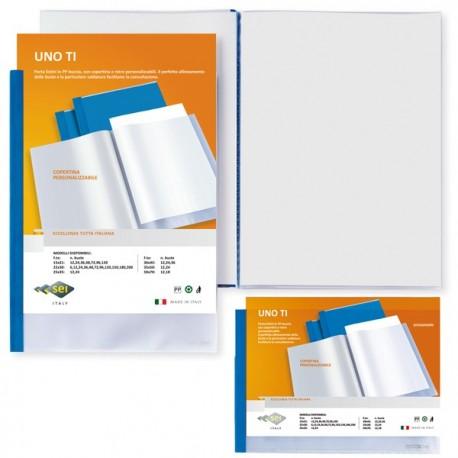 Portalistini Personalizzabili Uno TI 15x21 cm BLU 24 buste (A5) SEI ROTA