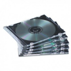 Custodie CD slim base NERO (25 Pz) FELLOWES 98316