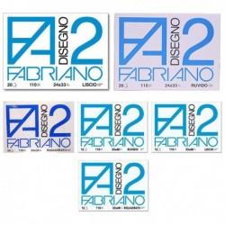 Album Disegno FABRIANO 2 Liscio riquadrato 24x33 cm 4 angoli 110 gr. 20 Fg.