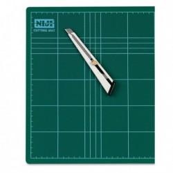 Piano da lavoro antitaglio - 60x45x0.3 cm - VERDE - doppio spessore - NIJI CM-60