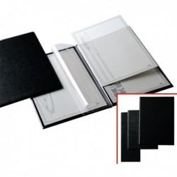 Portamenu Menu L in PVC 11x31 cm NERO a 2 tasche SEI ROTA 56710210