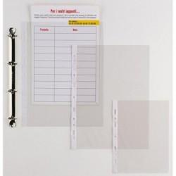 25 Buste Forate ERCOLE 21x29.7 cm in PVC Spessore 11/100 mm SEI ROTA 502129